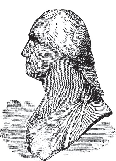 Houdon Washington Bust Illustration