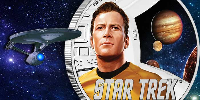 Star Trek - Captain Kirk - Tuvalu 2019 - Perth Mint