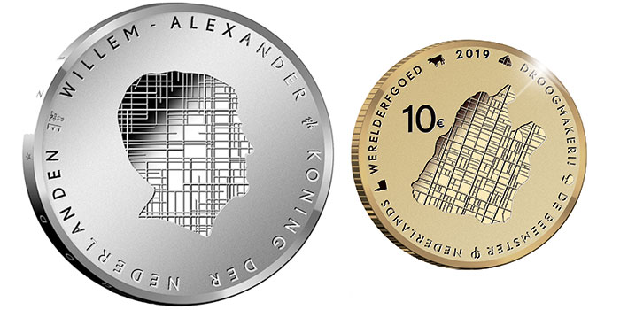 The Beemster Polder - Netherlands UNESCO silver and gold coin