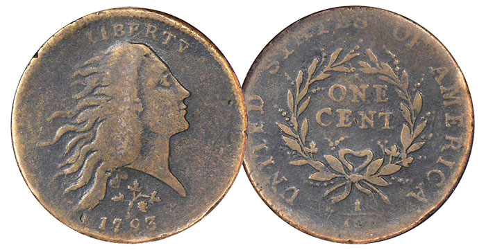 1793 NC-3. Rarity-8. Strawberry Leaf. Fine-12 (NGC).