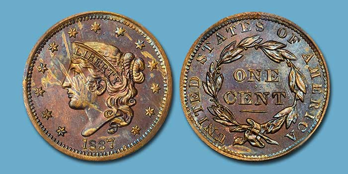 Rare Proof 1837 N-10 1837 Cent Featured in Stack's Bowers August 2019 ANA Auction