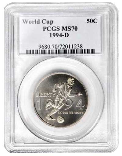 1994-D World Cup 50c PCGS MS70