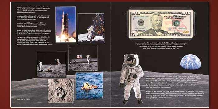 Apollo 11 $50 Currency Set Now Available From Bureau of Engraving and Printing