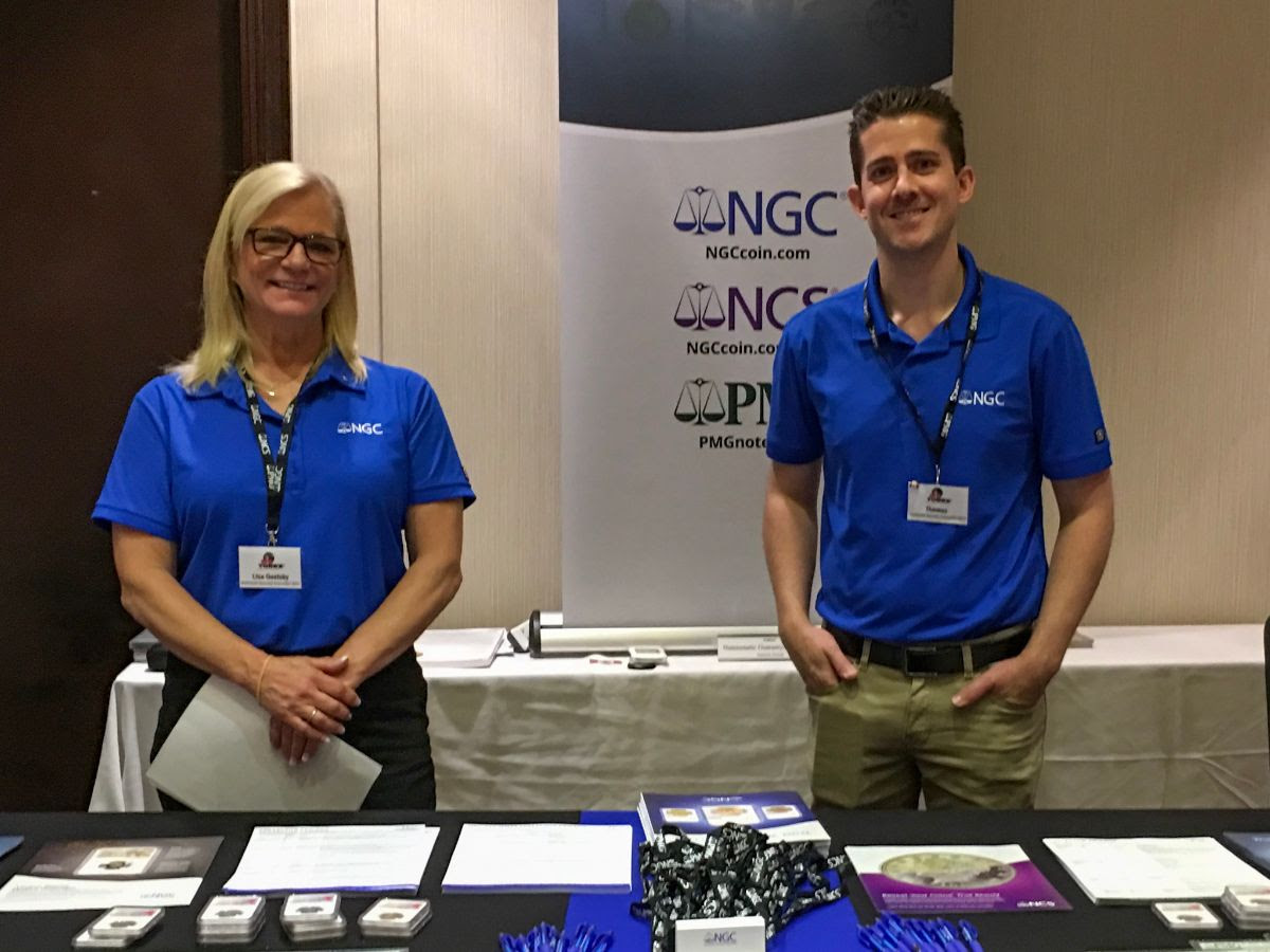 Lisa and Thomas from Numismatic Guaranty Corporation (NGC), courtesy of TOREX