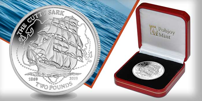 New Proof Silver Coin Celebrates the 150th Anniversary of Cutty Sark Clipper Ship