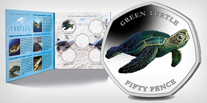 New Turtle Coin Series From British Indian Ocean Territory and Pobjoy Mint