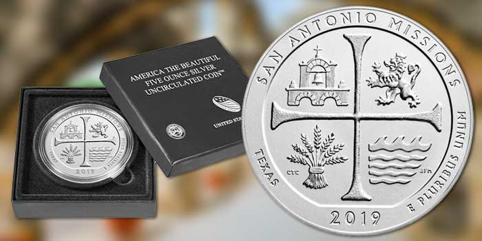 United States Mint Releases 4th 2019 America the Beautiful Five Ounce Silver Uncirculated Coin Aug. 29