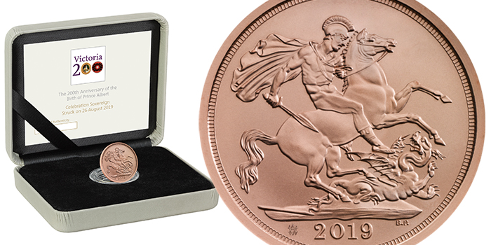 Royal Mint Celebrates 200-Year Anniversary of Prince Albert's Birth With Strike on the Day Sovereign