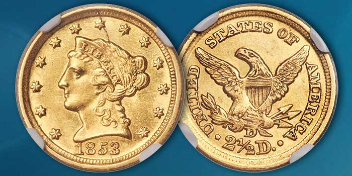 Heritage Auctions – Seldom Seen Selections: Unsurpassed 1853-D Quarter Eagle