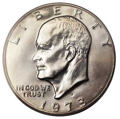 1973-D Eisenhower Dollar - PCGS MS67. Image: Heritage Auctions