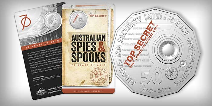 Royal Australian Mint Marks 70th Anniversary of ASIO with New 50c Coin