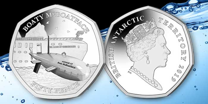 Boaty McBoatface's Adventure Continues With New 50p Coin From Pobjoy Mint