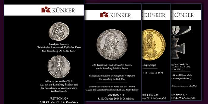 The Full Range of Numismatics: The Künker Fall Auction Sales