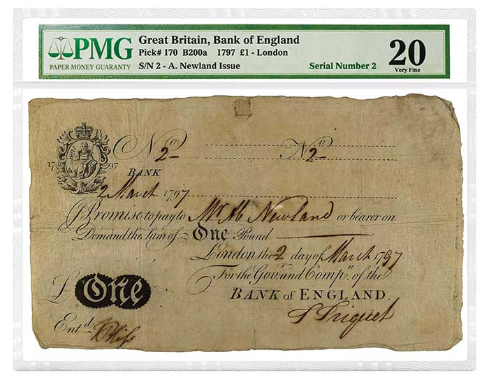 More Than 200 PMG-Certified Notes From Manzi Collection to be Offered October 10