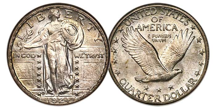 1924-D Standing Liberty Quarter in NGC MS65 Full Head CAC - Imaged by Heritage Auctions