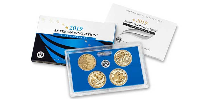 2019 American Innovation $1 Coin Proof Set on Sale Oct. 11