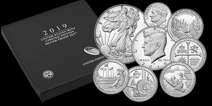2019 Limited Edition Silver Proof Set on Sale Today, Oct. 17
