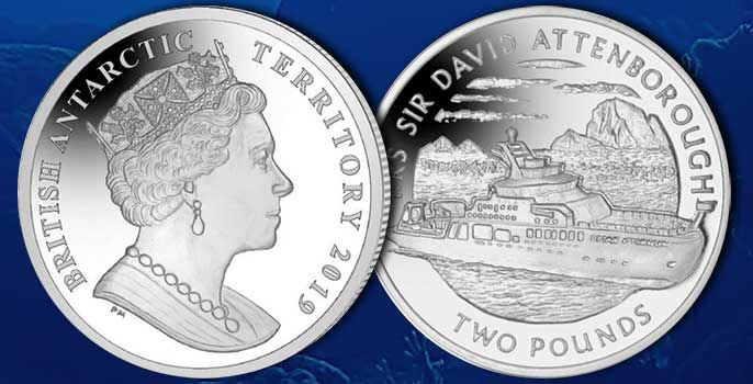 Pobjoy Celebrates Official Naming of RRS Sir David Attenborough with New Coin