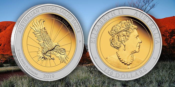 Perth Mint Coin Profiles - Australia 2019 Wedge-Tailed Eagle 1.5oz Bi-Metal Proof Coin