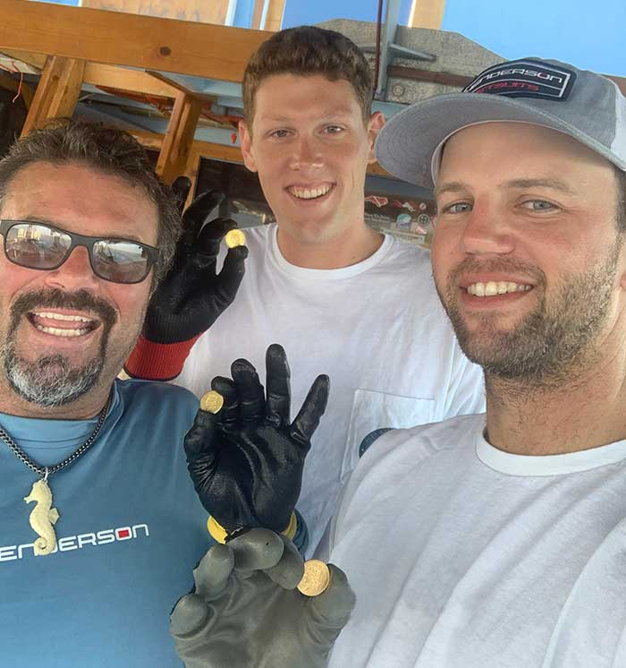 Blue Water Ventures International: Crew members from left to right - Vincent Collins, Garrett Davis, Captain Jimmy Gadomski - Photo: Blue Water Ventures International.