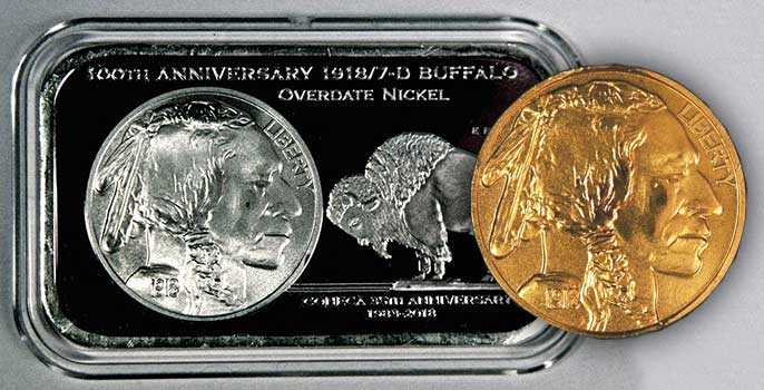 CONECA Celebrates 100th Anniversary of 1918/7-D Overdate Buffalo Nickel with Limited Edition Silver Bar