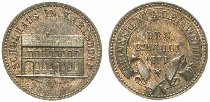 Lot number 8219 Baden Friedrich I, 1852-1856-1907. Bronze medal 1878. Very rare. Almost uncirculated. Estimate: 250 euros
