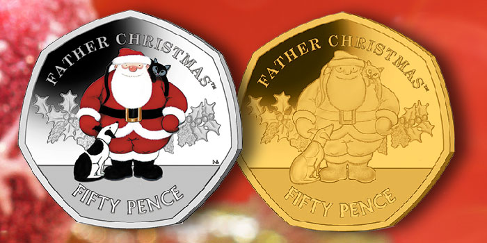 New 50 Pence Coin From Pobjoy Features Raymond Briggs' Father Christmas