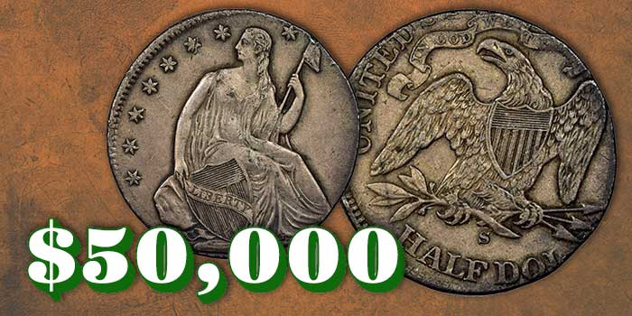 NGC-Certified Seated Liberty Half Dollar Mint Error Realizes Over $50,000