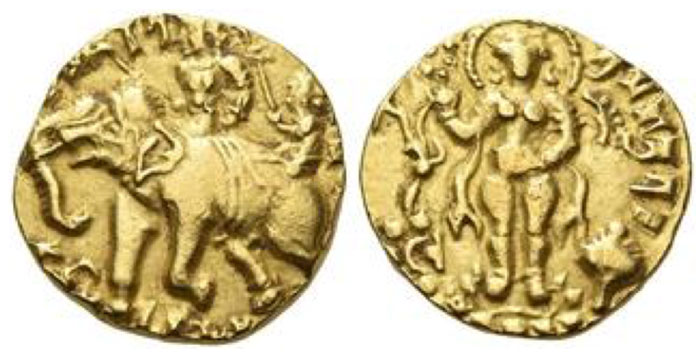 Kumaragupta. Stater, Rhinoceros Slayer type; 7.95 g.