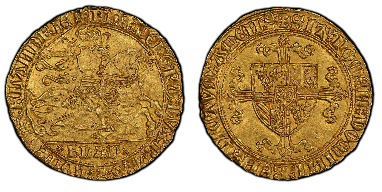 BELGIUM. Flanders Bruges. Philippe le Bon. (Count, 1419-1467). (1419-67) AV Cavalier d'Or. PCGS MS64. Images courtesy Atlas Numismatics