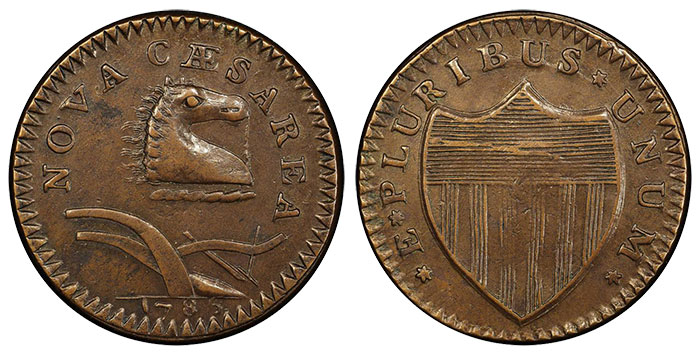 "1786 New Jersy ""Wide Shield"""