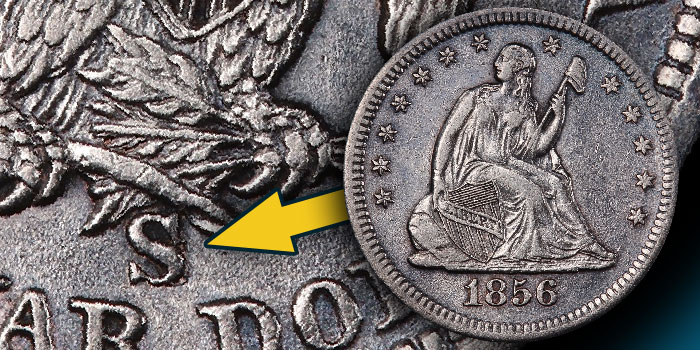 Rare 1856-S/s Quarters Discovered in Amazing SS Central America Treasure. Image Credit: PCGS / CoinWeek