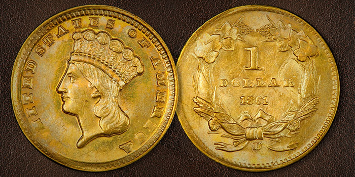 The Tumultuous Times of the 1861 Indian Princess Gold Coin