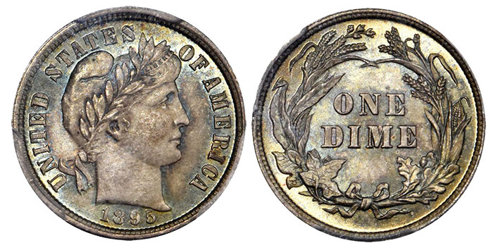 1895 Barber Dime. MS-67 (PCGS). CAC.