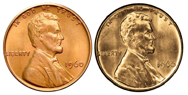 1960-D LINCOLN MEMORIAL SMALL DATE UNCIRCULATED BRIGHT RED DENVER MINT CLEAN