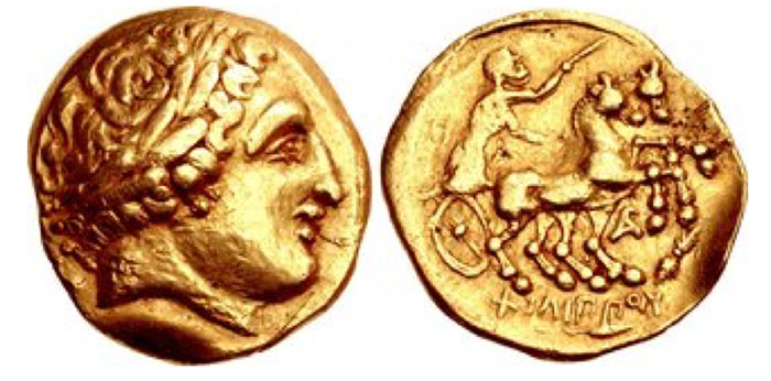 GAUL. Arverni. 3rd century BCE. AV Stater (18mm, 8.33 g, 2h). Montmorot type. Imitating Philip II of Macedon type.