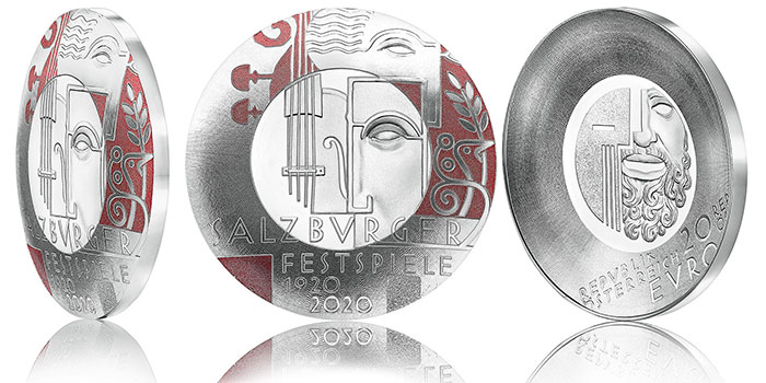 First of Its Kind Silver Coin From Austrian Mint Celebrates Centenary of Salzburg Festival