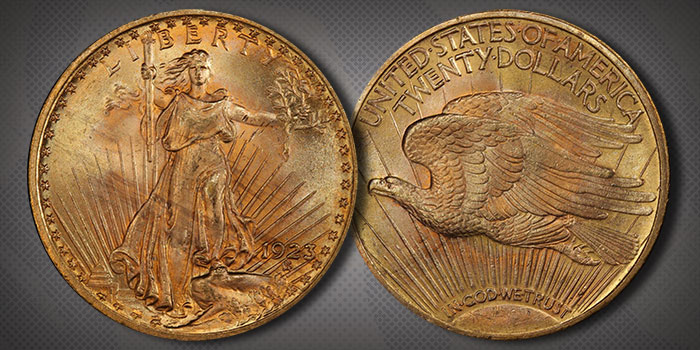United States 1923 Saint-Gaudens $20 Double Eagle Gold Coin