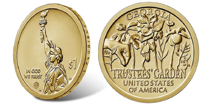 Georgia American Innovation $1 Coin Products on Sale Dec. 19