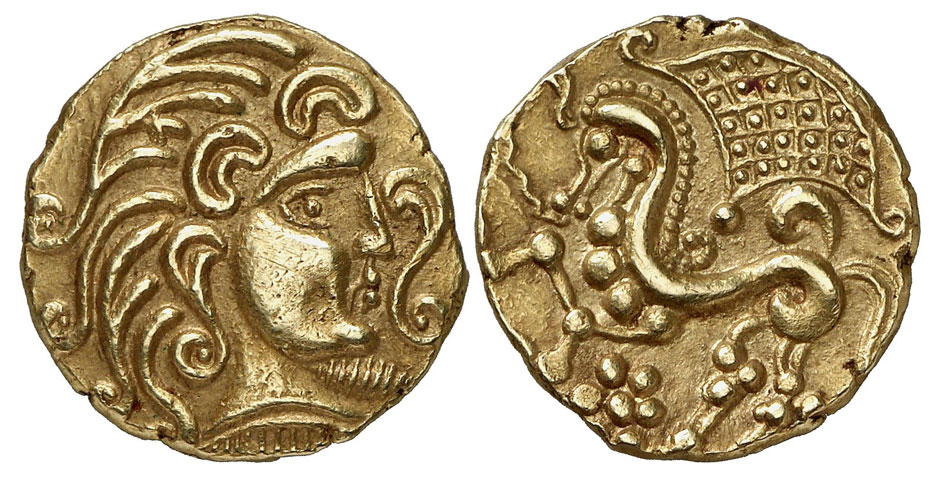 Gaul Parisii. Gold Stater, around 100-50 BCE J.-C., 7.43g.