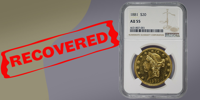 Numismatic Crime Alerts - Missing Coins Recovered, World Coins Stolen