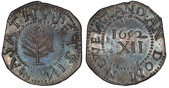 1652 Pine Tree Shilling. Image Courtesy of PCGS.
