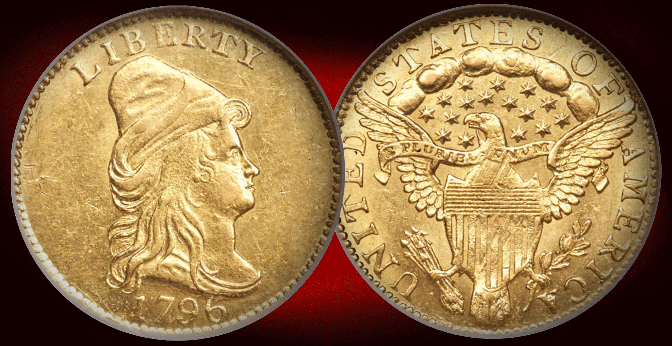 Rare 1796 No Stars Quarter Eagle Gold Coin in Heritage Fun Show Signature Auction