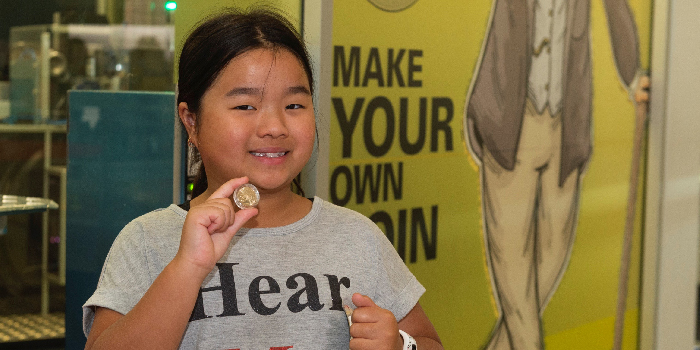 First Coin Strike of 2020 Rings in the Decade at Royal Australian Mint - Caitlin Ping. Imaged by Royal Australian Mint.