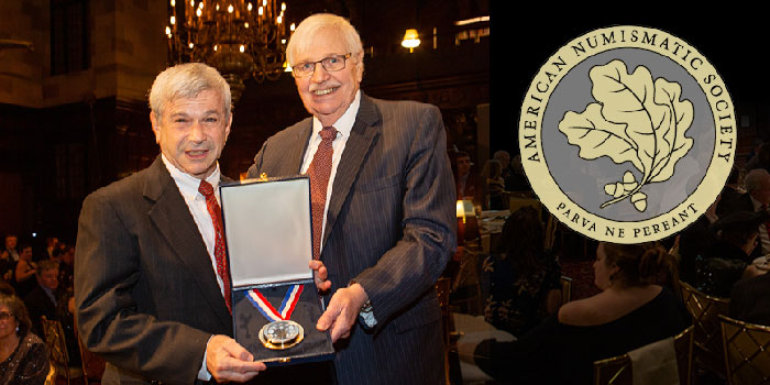 Richard M. Beleson with the Trustees' Award at the Annual Gala Dinner, held at the Harvard Club in New York City.