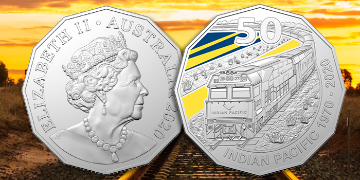 Royal Australian Mint Celebrates 50 Years of Indian Pacific Train with 50p Coin