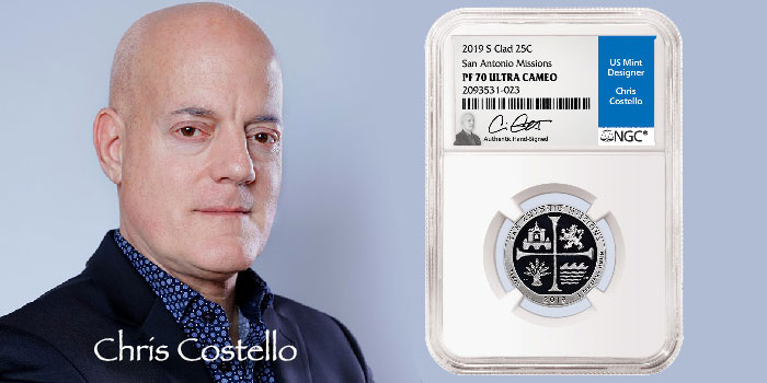 NGC Signs Exclusive Signature Label Deal with Award-Winning Coin Designer Chris Costello