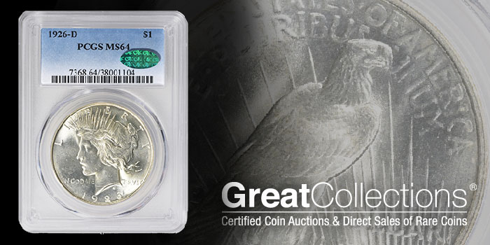 PCGS MS63 1926-P Peace Dollar