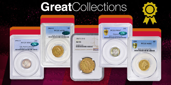 Srotag Registry Sets of US Coins to be Auctioned by GreatCollections