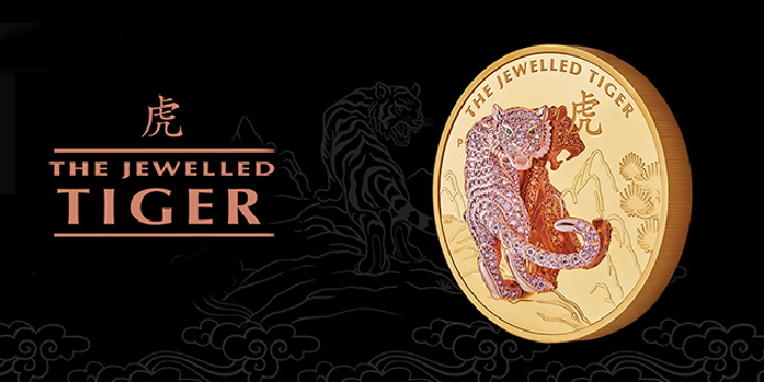 Perth Mint Presents the Jewelled Tiger 2020 10oz Gold Proof Coin